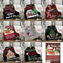 mois année accessoires bébé Promotion 8 Style 3D Imprimer Noël Hiver Couverture À Capuche Wearable Pour Les Enfants Et Les Adultes Chaud Décoration Soft Bed Home Throw Sofa Blanket 1pcs Envoyer