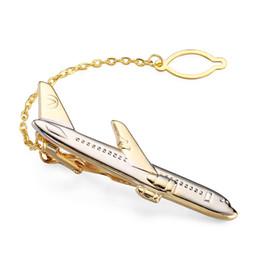 Модный галстук онлайн-Высококачественный бренд мужской зажим для галстука vogue свадьба рубашка галстук булавка аксессуары золотой самолет зажимы для галстука классический стиль дизайна