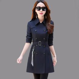 Argentina 2018 nuevo otoño e invierno rompevientos mujer chaqueta larga delgada mujer trinchera chaqueta moda mujer abrigo prendas de vestir exteriores para mujer Suministro