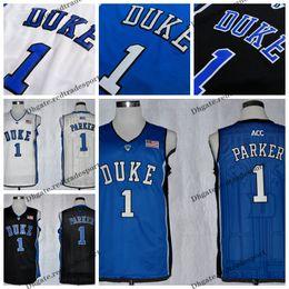 fe276f0fdc47 Mens Custom Jabari Parker Duke Blue Devils College Basketball Jerseys  Customize New Blue Cheap  1 Jabari Parker Stitched Shirts S-XXL