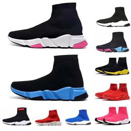 2019 sapatas brancas vermelhas do loafer dos homens Homens Meias Sapatos 2020 Speed Trainer Run Casual sapatos de grife Triplo Preto Ginásio Branco Womens Red Vintage Loafers Sports Botas ACE Sapatilhas sapatas brancas vermelhas do loafer dos homens barato