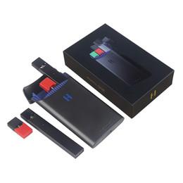 Ручка власти онлайн-Оригинал 1500 мАч H Box Power Bank Зарядное Устройство Для Juul Стартовый Комплект Vape Pen Juul Стручки Ecig E Сигарет Испаритель Pen Pen Cartrs Аутентичные