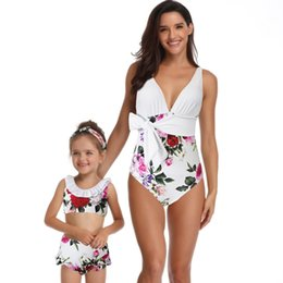 Argentina Bikini 2019 Traje de baño Madre e hija Imprimir Sexy Traje de baño de una pieza Ropa a juego Bikini Trajes de baño # 28 supplier clothes match daughter Suministro
