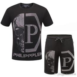 camicia di moda depeche Sconti tuta maglietta casuale breve sportivo pantaloncini 2019 uomini nuova tuta di estate pantaloni T-shirt a maniche corte Skull top