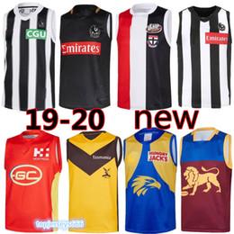 best-jersey-team Rabatt 19/20 NEU Collingwood Magpies Rugby Trikot West Coast Eagles Saints Essen Gold Coast Team beste Qualität Rugby Trikot