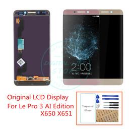 Partes profesionales online-La original para Leeco Le Pro 3 Piezas de repuesto AI edición Pantalla LCD de panel táctil de la Asamblea digitalizador para LeTV X650 X651