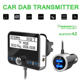 Fonction récepteur radio en Ligne-Multifonction Voiture DAB Radio Récepteur Tuner Adaptateur USB Bluetooth Émetteur FM Antenne LCD Numérique Radio Appel Mains Libres