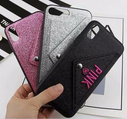 Canada ROSE Glitter Bling Étui souple en TPU pour Iphone XR X XS Max 8 7 6 6S Plus Brillant Étincelle Cartes Fente Titulaire Téléphone cellulaire Couverture De La Mode De Mode 50pcs Offre
