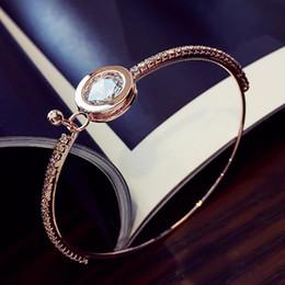 Простой круглый браслет онлайн-designer jewelry crystal bracelets circle round crystal bangles for women simple classic hot fashion free of shipping