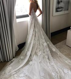 Bretelles spaghetti robes de mariée en dentelle décolleté plongeant dos bas pure corsage robe de mariée Corset robes de mariée robe de mariée robe formelle ? partir de fabricateur