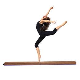 Nuovo Ginnastica in pelle scamosciata Pieghevole Balance Beam Home Gym Training Gift 8ft Adatto per giovani ginnaste Cheerleaders da regali ginnastici fornitori