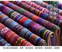 Diy étnica cortina de algodão tecidos de linho têxtil para patchwork toalhas de mesa sofás costura artesanato materiais saco de pano de Fornecedores de vestidos de casamento de neve