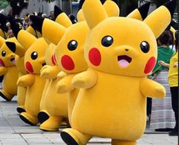 2019 vestidos de pikachu Traje de la mascota de Pikachu Traje de disfraces vestidos de pikachu baratos