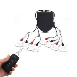 Sexo elétrico bdsm on-line-Almofada massageador BDSM brinquedo do sexo controle remoto sem fio kit de choque elétrico eletrochoque tratamento massageador máquinas de cuidados de saúde