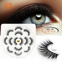 afa318e15c2 dramatic false lashes Coupons - Lotus Shape 7 Pairs 3D Mink Lashes Natural  Long False Eyelashes
