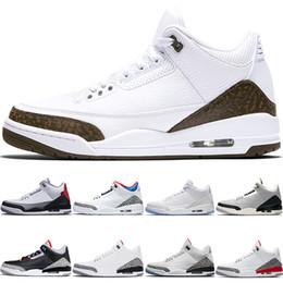 forro de tenis Rebajas Nike Air Jordan 3 Zapatillas de baloncesto de moca para hombre Zapatillas de clorofila JTH NRG Línea de tiro libre Katrina Blanco Negro Cemento Sport Sport Trainer