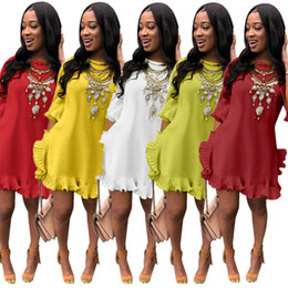 1c53674faae women splits side short mini dress 2019 - women summer Pleated mini dress  short sleeve irregular
