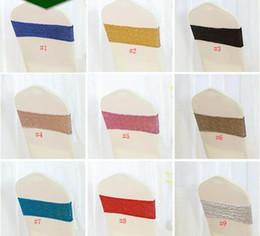 100 pz rosa sedia di paillette si inchina spedizione gratuita spandex con paillettes sedia bande nozze elastico telai della sedia tessili per la casa decorazioni SN1905 da fasce arancioni rosse fornitori