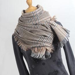 56c6bd199c28 2019 plaid hijab Echarpes hiver écharpe en cachemire femmes plaid shaw  hijab dames écharpes pompon pharpe