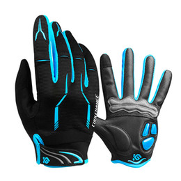 Заводские розетки открытый Велоспорт перчатки сенсорный экран гель велосипед спорт противоударные перчатки для мужчины женщина MTB дорожный велосипед полный палец телефон перчатки от