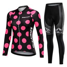 2019 conjuntos de jersey de ciclismo anti-bacterianos Wear mulheres Ciclismo Jersey Mtb Roupa de bicicleta Feminino Ciclismo mangas compridas Road Bike Roupa Ciclo menina Corrida Bib longo Pant