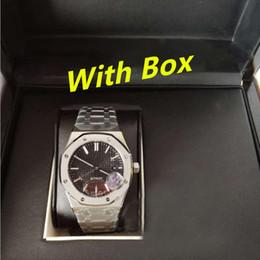 Reloj de papel digital online-41mm reloj de lujo papeles ROYAL OAK 15400ST caja de reloj automático bisel de cerámica Relojes de pulsera para hombre 2813 movimiento mira el reloj de los relojes