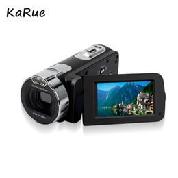 домашнее видео скрытая шпионская камера Скидка KaRue HDV-312P Переносная цифровая видеокамера DVR HD 1080P 16-кратный зум 2,7-дюймовый ЖК-экран Разрешение 24 Мп Видеокамера домашнего использования