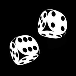 ad84673eb3e56 Casino Poker Zar Araba Tampon Sticker Pencere Çıkartması Vinil Araba  tasarım Araba Sticker 13.4 CM x 13 CM