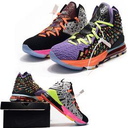 zapatos de baloncesto acolchados Rebajas Lb 2019 nuevos zapatos de baloncesto del Mens James Igualdad Oreo Bred 17 cestas XVII amortiguador del diseñador Battleknit Deportes zapatilla de deporte entrenadores profesionales