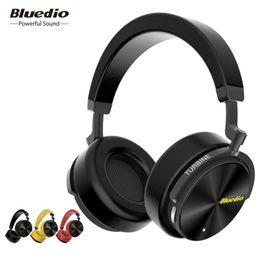 Bluedio T5 Auriculares inalámbricos con cancelación activa de ruido Auriculares portátiles con micrófono para teléfonos y música desde fabricantes