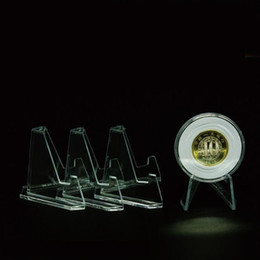 почтовые стенды Скидка Памятная подставка для монет Монетная подставка для монет Мольберт Держатель для бейджа Гольф Открытка для выставок Показать стенд ZC0032