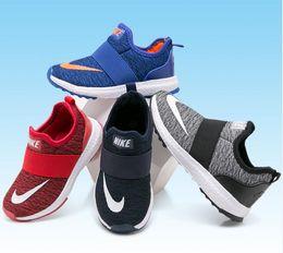 Niños corriendo zapatillas chicas online-Nuevos niños Casual Kids Shoes Boys And Girls Running Shoes size25-35 envío gratis N023983