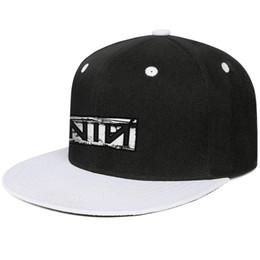 Canada Neuf pouces ongles noir bande logo casquettes de baseball snapback casquettes de camionneur flatbrim nouveauté réglable Offre