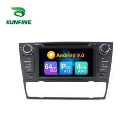 bmw di gps dell'automobile Sconti Stereo per Android 9.0 Core PX6 A72 Ram 4G Rom 64G GPS per auto lettore multimediale multimediale per autoradio serie BMW 3