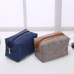 2019 bolsas de cosméticos simples atacado atacado Moda portátil saco de cosmético Simples sacos quadrados Comute De Armazenamento Personalizado logotipo Zipper bolsa Mobiliário Doméstico moda