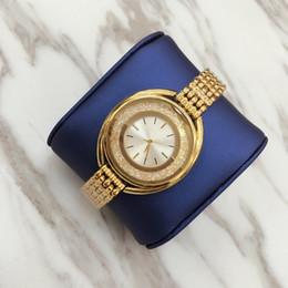 relógios oval Desconto 2019 luxo mulheres relógio de ouro moda lady dress watch com o funcionamento de diamante modelo de moda mulheres assistir alta qualidade pulseira de aço cadeia