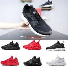 mens ar huarache executar Desconto Nike Air Huarache 1.0 4.0 men shoes correndo sapatos triplos preto branco vermelho moda huaraches mens de luxo formadores mulheres sports sneaker 36-45