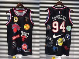 Maglia di moda per gli uomini xxl online-19ss New Three Collocation 94 Basketball Vest Shirt Uomo Donna Breatheable Fashion Jersey Streetwear T-shirt da esterno