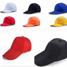 Boné de beisebol casual casual on-line-Plain Baseball Cap women caps Classic hat Casual Sport Outdoor Ajustável Cap fashion unisex kids adult hat KKA7718
