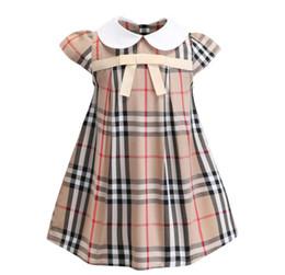 i vestiti di pasqua all'ingrosso delle ragazze Sconti Abbigliamento per bambini commercio estero 2019 nuova gonna per bambini estate bambino arco risvolto ragazze in cotone vestono una generazione