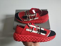 Hot Luxury suela espinada zapatos casuales hombres diseñador Urchin Sneakers doble cremallera con cordones wovens moda zapatillas color mezclado con caja desde fabricantes