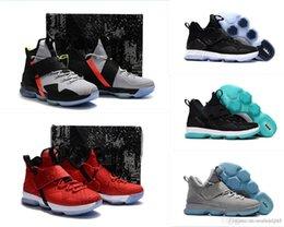 баскетбольные кроссовки размер 14 Скидка Lebron 14 Xiiii мужские баскетбольные кроссовки на продажу MVP Christmas BHM Oreo молодежные детские кроссовки ботинки с оригинальной коробкой Размер 7 12