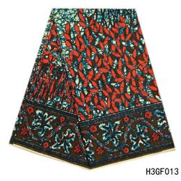 blocos de tecido Desconto Mais novo africano tecido de impressão de cera bloco, nigeriano ankara 100% hollandais tecido de cera de algodão para as mulheres partido 6 jardas / peça
