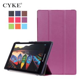 2019 tableta tab3 CYKE para Lenovo Tab3 8 TB3-850F Funda magnética de cuero PU de soporte de tableta para Lenovo Tab2 A8-50F rebajas tableta tab3