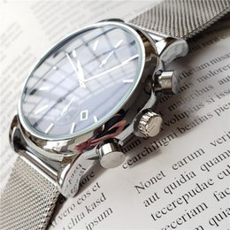 2019 vigilanza delle signore d'argento dell'annata Orologio da polso di lusso BOSS di alta qualità da uomo 43 millimetri in acciaio Orologi da polso impermeabile orologio da uomo orologi di design Orologi da uomo di lusso orologio