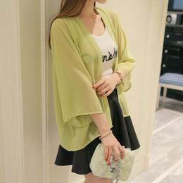 Le giacche coprono il vestito coreano online-Leisure Fashion Primavera e l'estate New Korean Air Conditioner Thin Jacket, Sunscreen Dress, Chiffon Blouse caldo cappotti di vendita