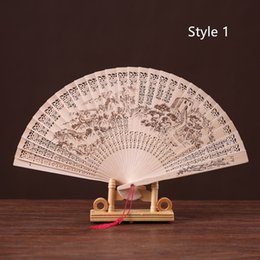 2019 impresión de la gran muralla Plegable China clásica gran muralla Panda flor impresa ventilador de madera para regalos de fiesta y decoración del hogar rebajas impresión de la gran muralla