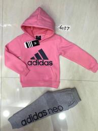 Modedesigner jungen hosen online-Designer Kinder Jungen Mädchen Kleidung Sets Kinder Baumwolle Sweatshirts und Hosen Baby Designer Mode Sport Anzüge 2-6 t
