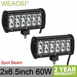 6.5 lumières spot spot Promotion Deux rangées 2pcs 6,5 pouces faisceau de faisceau de spot de projecteur à LED travail lumière 4x4 voiture 12v 24v haute puissance étanche longue durée