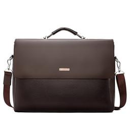 Marke Business Männer Aktentasche Leder Laptop Handtasche Casual Man Tasche Für Anwalt Umhängetasche Männlichen Büro Tote Umhängetasche von Fabrikanten
